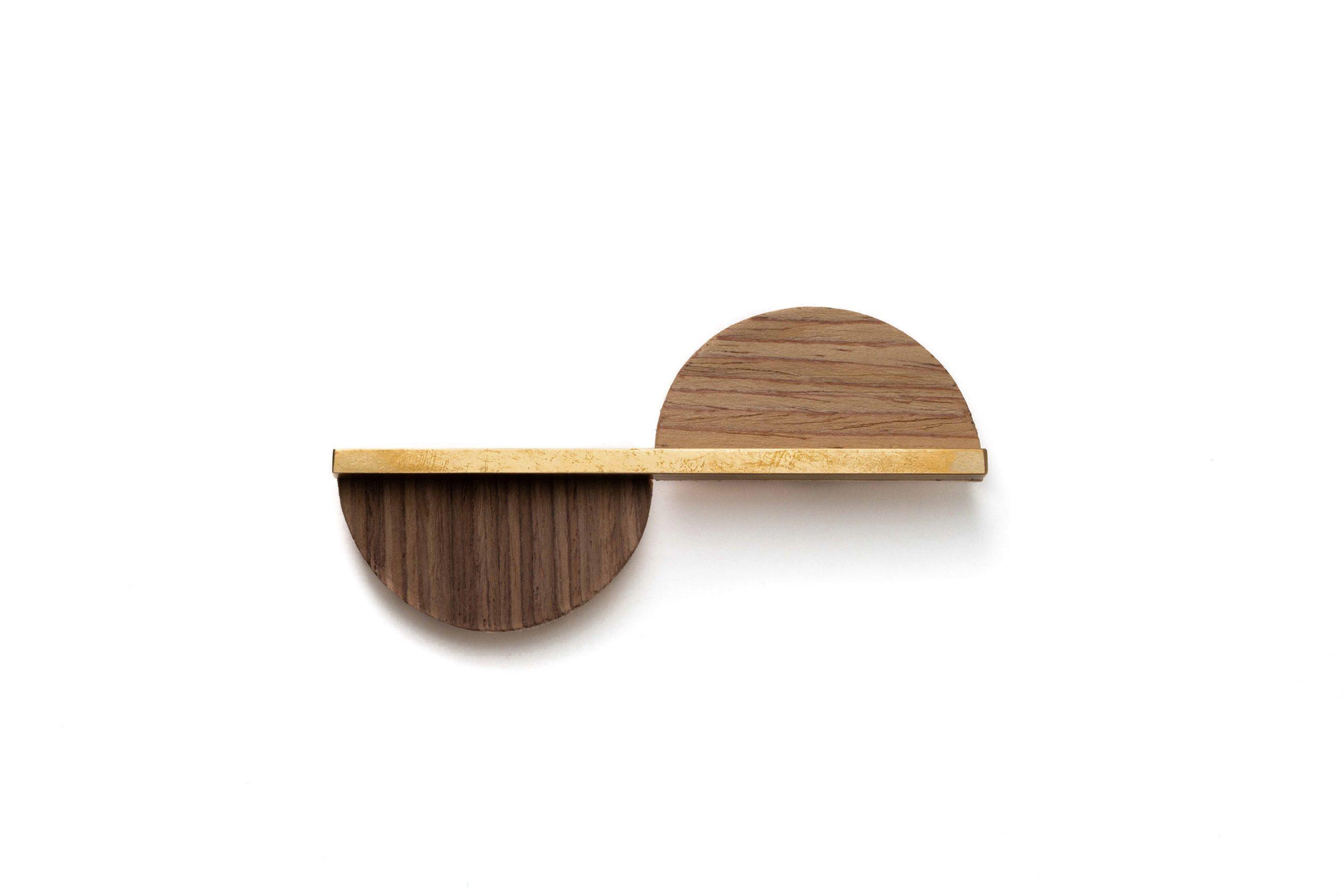 Wood Veneer Broch